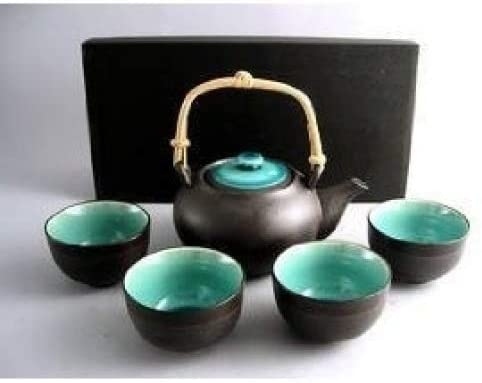 Miya Japanese Ocean Blue Five Piece Tea set