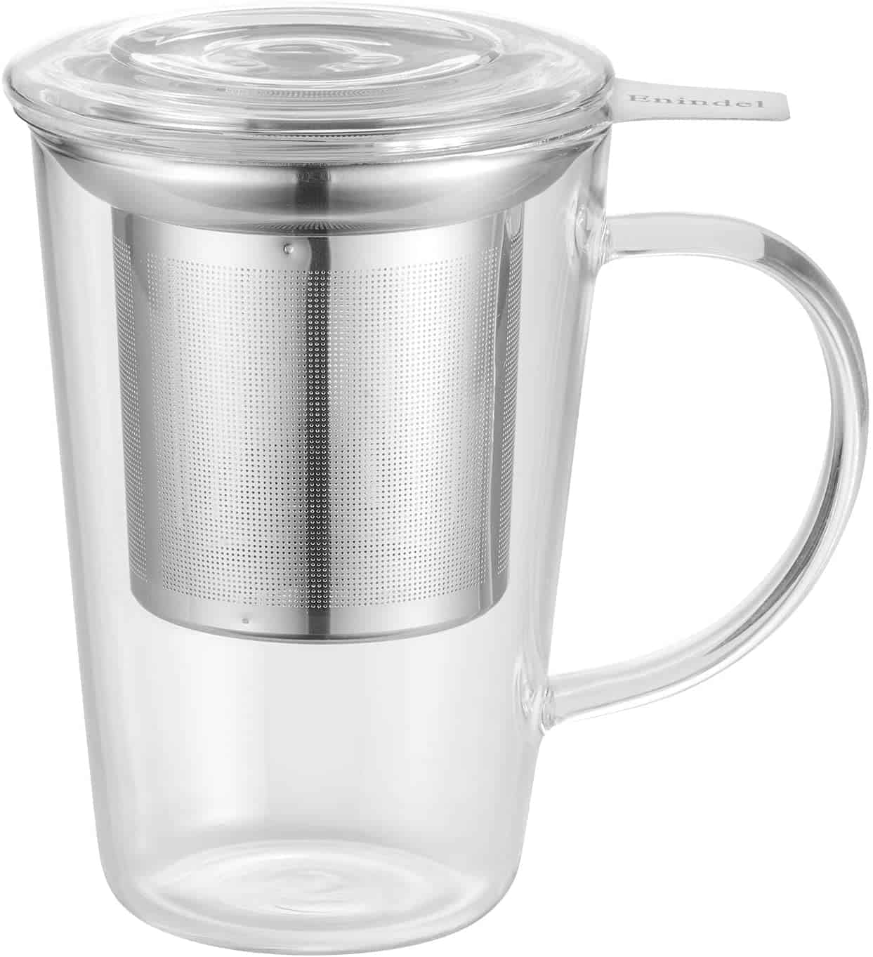 Enindel Glass Tea Cup With Infuser And Lid
