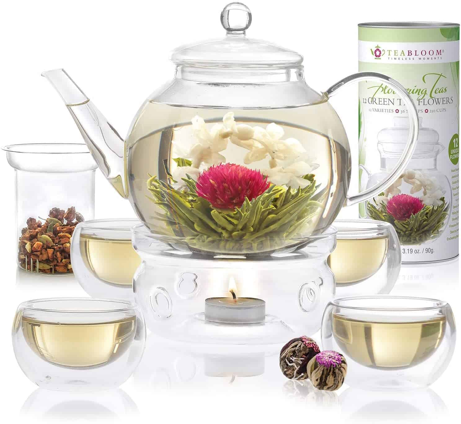 Tea Bloom Stovetop Safe Glass Teapot
