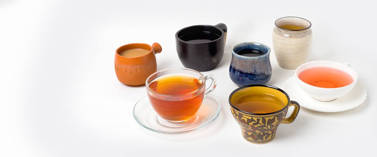 tea in different material of cups 1 1