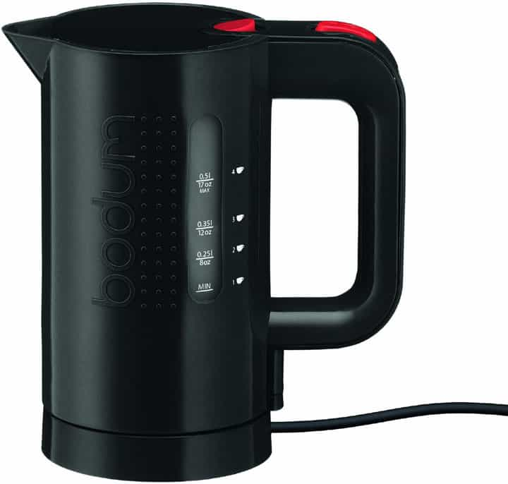 Bodum Bistro Electric Water Kettle 17 Ounce Black