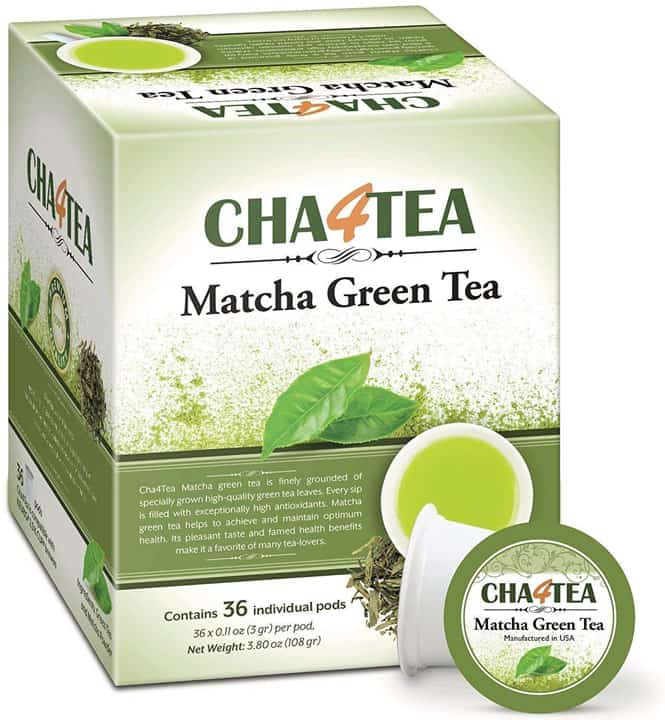 Cha4TEA 36 Count Matcha Green Tea for Keurig