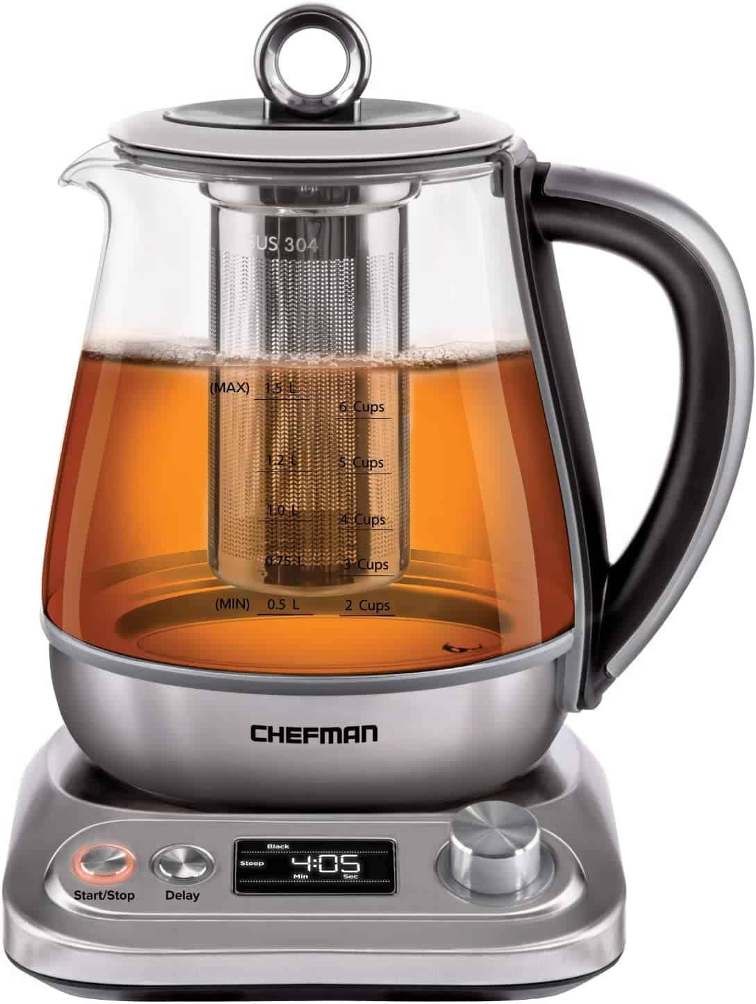 Chefman Digital Electric Glass Kettle 1.5 Liter