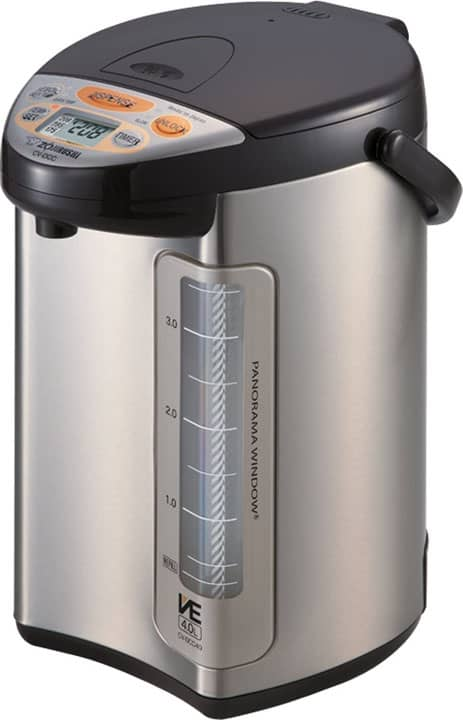 Zojirushi America Corporation Hybrid Water Boiler And Warmer 4 Liter Stainless Dark Brown