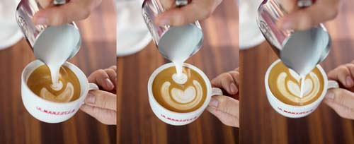 how to froth milk for latte art