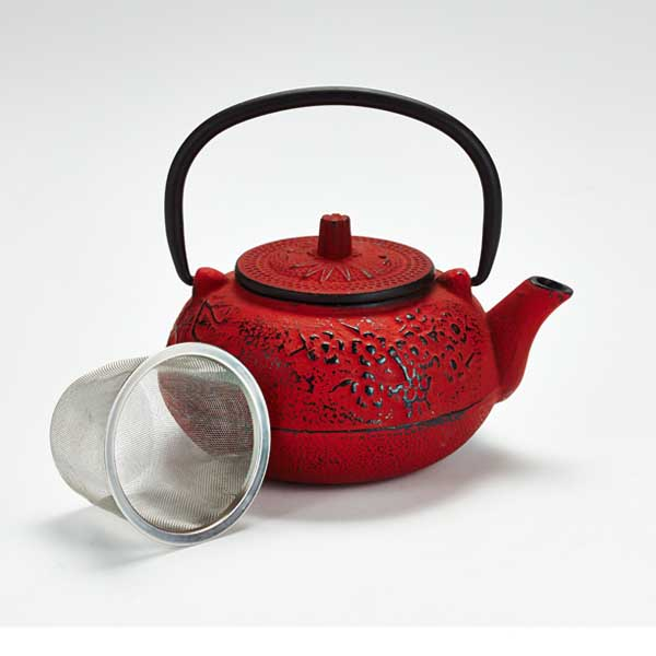 how to clean a cast iron teapot